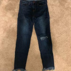 Francesca's Harper Jeans With Fringe Ankle Size 28